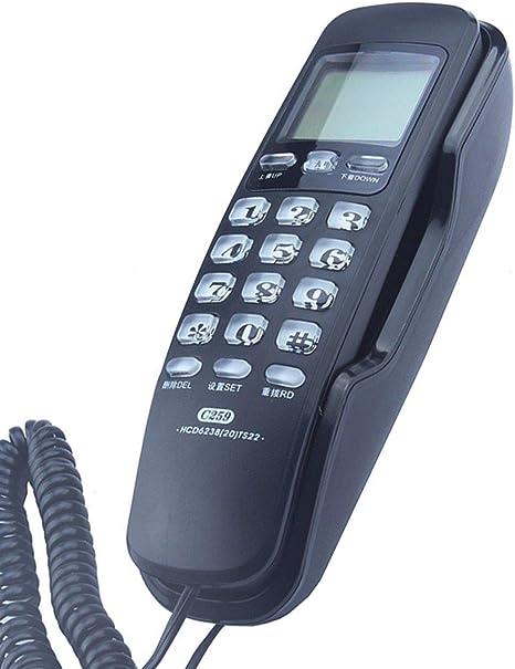 XYFJD Mini-teléfono de Escritorio Colgar de la Pared de Doble Uso del teléfono-identificación de Llamadas Línea Fija en el hogar Oficina de Extensión Teléfono Fijo-Multi-Color Opcional: Amazon.es: Hogar