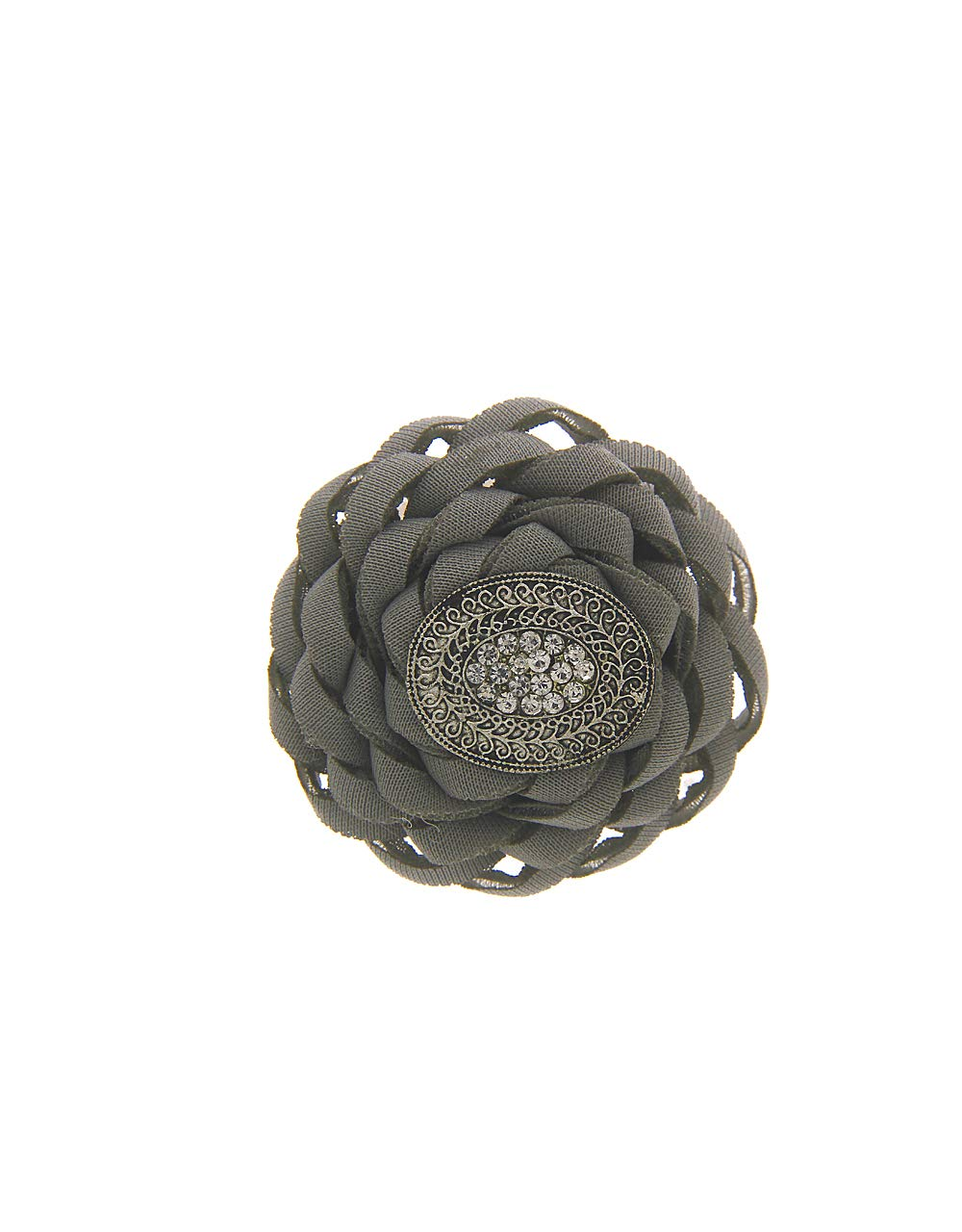 Anuradha Art Grey Colour Adorable Something Stylish Classy Sari Pin for Women/Girls