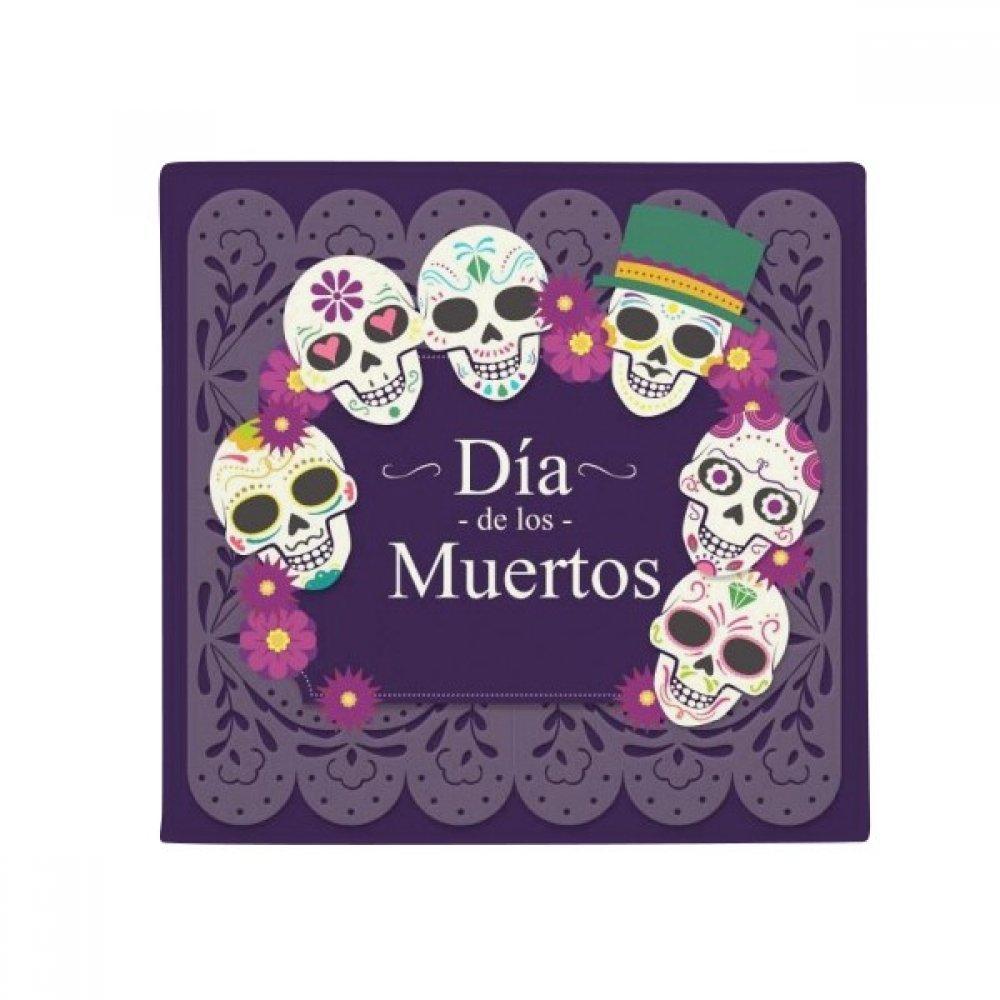 DIYthinker Skull The Day of The Dead Illustration Anti-Slip Floor Pet Mat Square Home Kitchen Door 80Cm Gift