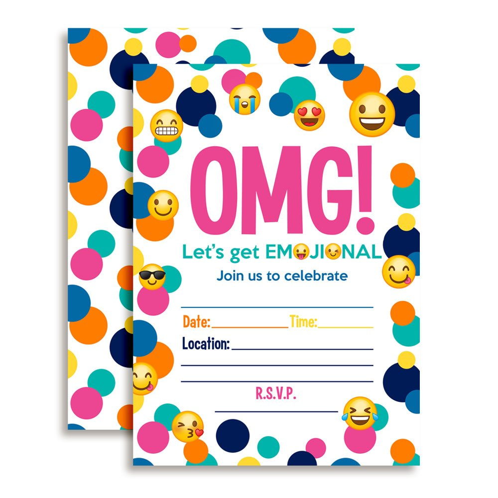 Emoji Birthday Invitations | Birthday Wikii