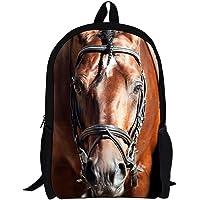 (Horse) - HUGSIDEA Cool 3D Animals Children School Book Bag Kids Printing Backpacks