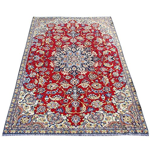 9.8' x 6.4' Red Color Handmade Rug, Wool Oriental Rug, Traditional Design rugs. Vintage Floor Rug, Oriental Area Rug, Traditional Fancy Carpet. Code: S0101157