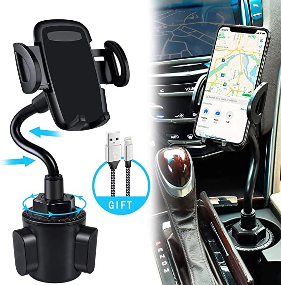 Universal Car Mount Adjustable Cup Holder Stand Cradle Stable For Cell Phone Kit