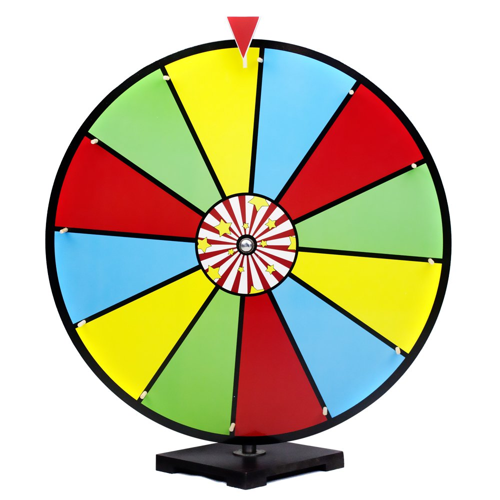 24'' Classic Spin & Win Prize Wheel, 12 Slot Dry Erase Tabletop Game - Great for Tradeshows, Carnivals, & Festivals by Midway Monsters