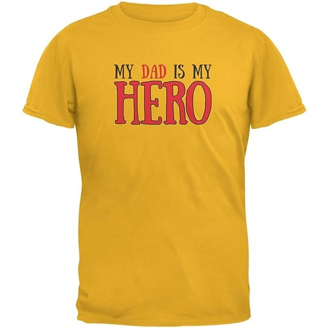 Old Glory Día del padre - Mi papá es mi héroe oro adulto camiseta - Dorado  -  Amazon.es  Ropa y accesorios 11be766e26478