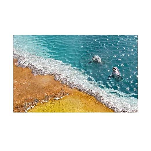 Winomo 3d Boden Aufkleber Delphin Wandaufkleber Für Schlafzimmer