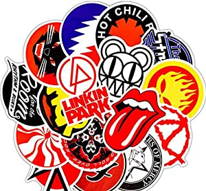 GMADD 50Pcs Pack Rock Stickers Set Pegatinas de Banda de Heavy ...