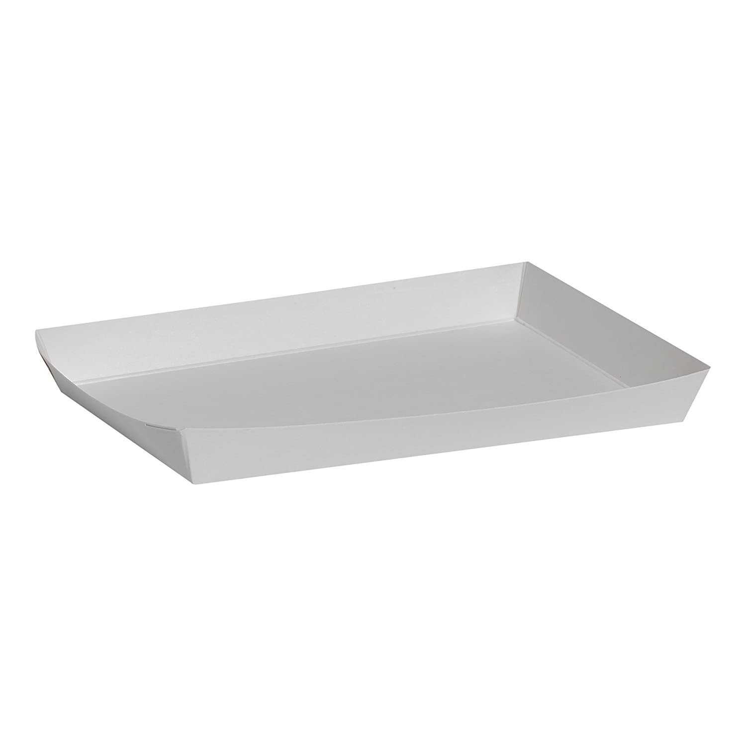 "Dixie Veltone Tray by GP PRO (Georgia-Pacific), 644, White, 5.75"" W x 8.25"" L x 0.88"" H, 1,000 Count (Case of 8 Packs, 125 Trays Per Pack)"