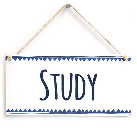 Cheyan - Placa de Madera para Estudio, Elegante Cartel para ...
