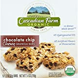 Cascadian Farm Granola Bar - Organic - Chewy - Chocolate Chip - 7.4 oz - case of 12