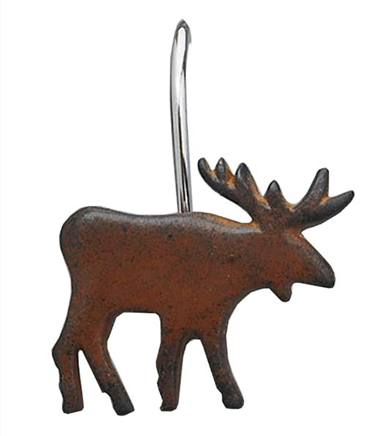 Amazon.com: Park Designs Moose Shower Curtain Hooks (Set of 12 ...