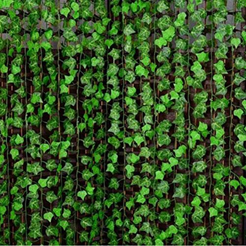 (Connoworld-8ft Artificial Ivy Vine Leaves Home Garland Fake Foliage Plants DIY Decoration )