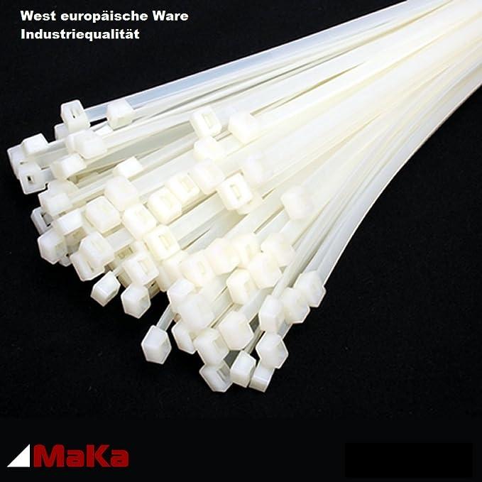 100x Kabelbinder 450 x 7,6mm weiss ; Industriequalität