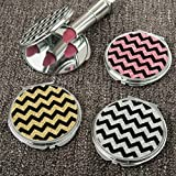 90 Glitter Chevron Compact Mirrors From Gifts By Fashioncraft