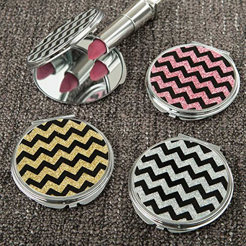90 Glitter Chevron Compact Mirrors From Gifts By Fashioncraft by Fashioncraft