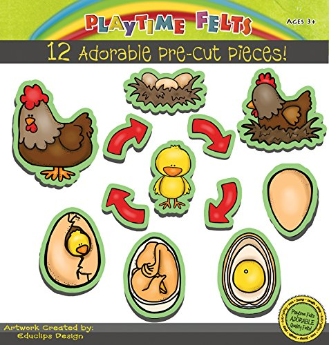 Chicken Life Cycle Felt Board Figures for Story Telling - Precut