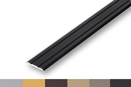 selbstklebend 900 mm, schwarz /Übergangsprofil Nahtdeckprofil 25 mm flach selbstklebend in 4 Eloxalfarben 6,46/€//m