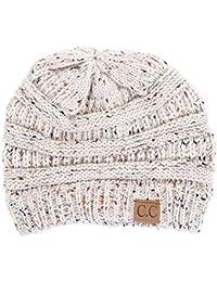 FunkyJunque C.C Confetti Knit Beanie - Thick Soft Warm Winter Hat - Unisex
