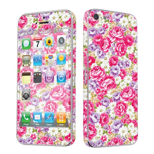 Apple iPhone 5 Full Body Vinyl Decal Protection Sticker Skin Muti Pink Floral By Skinguardz