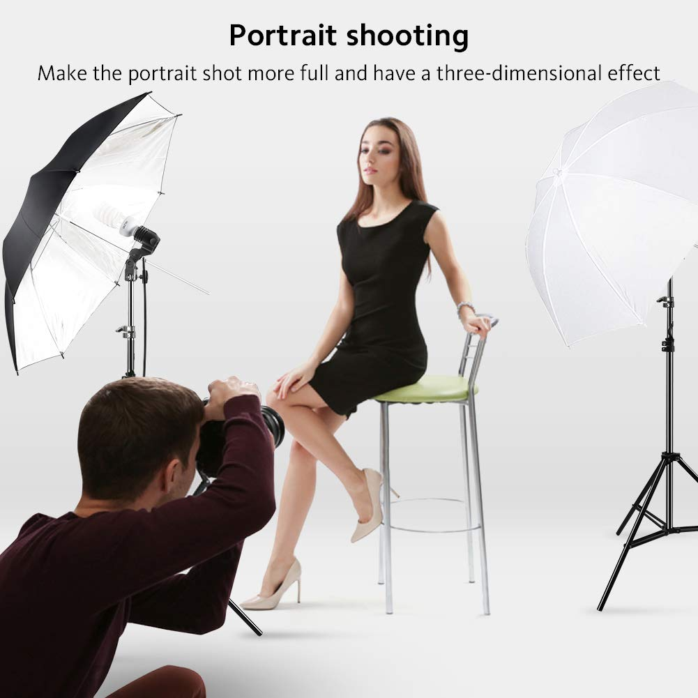 Photography Umbrella Lighting Kit, 600W 5500K Day Light Continuous Studio Lights Equipment for Portrait Video Studio Shooting by RALENO by RaLeno (Image #5)