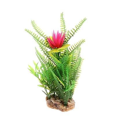 Daxibb Planta acuática para acuario, diseño de flores, decoración de ...