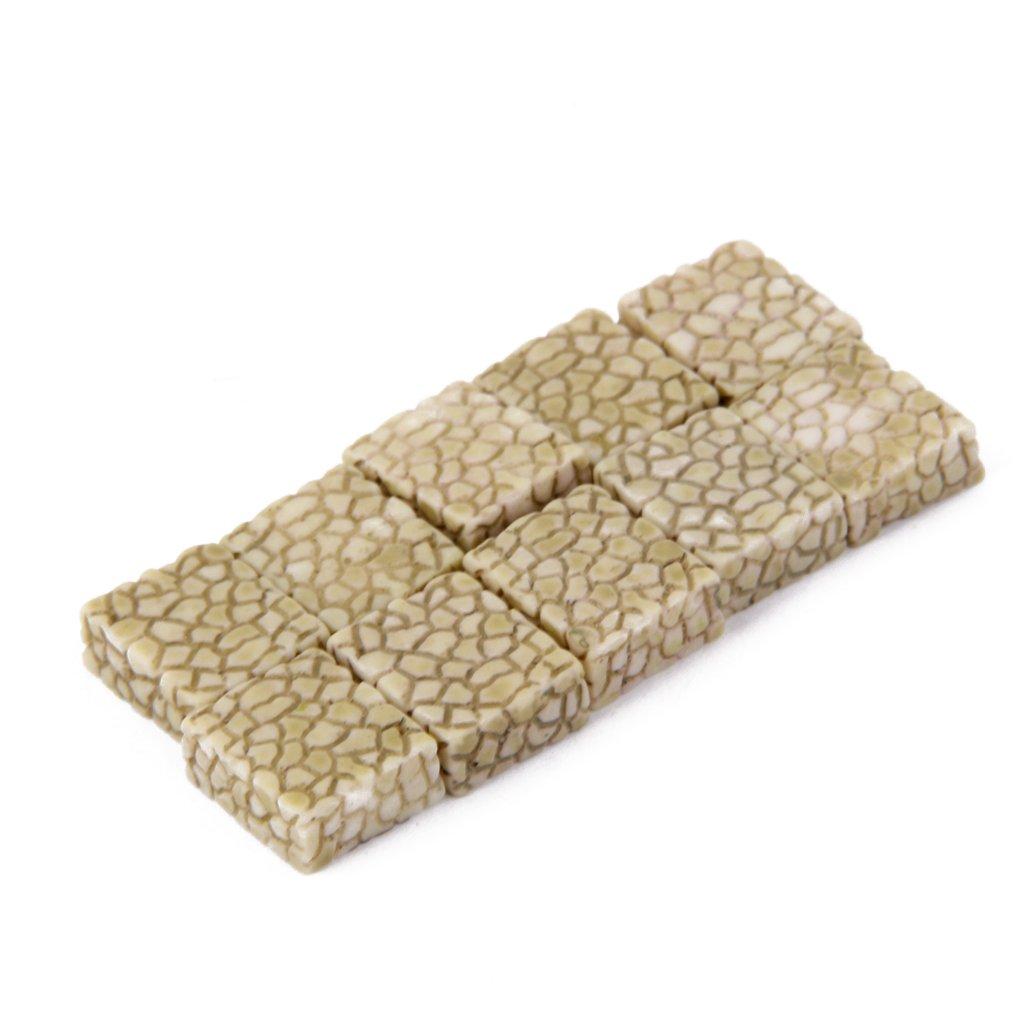 10x Resina Miniatura Decoraci/ón Pavimento De Piedra Gris Micro Paisaje Jard/ín De Bons/áis