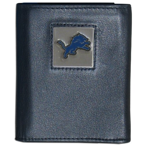 NFL Detroit Lions Leather Tri-fold Wallet Lions Tri Fold