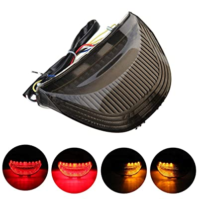 DTR2020 Smoked ATV LED Tail Light, 12V Motorcycle Brake Light with LED Turn Signals Compatible with 2003-2006 Honda CBR600RR, 2004-2007 CBR1000RR: Automotive