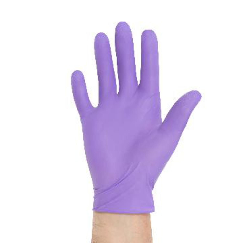 Kimbery-Clark 55090 Purple Nitrile Exam Glove, Powder Free, Disposable, Extra Small, Purple (Case of 500)