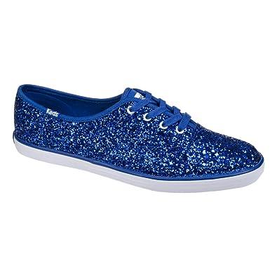 ae76f964a119 Keds Women s Champion Blue Glitter Trainers - 5 UK  Amazon.co.uk ...