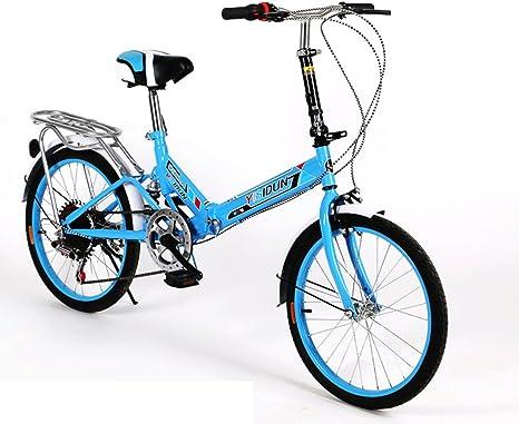 HIKING BK 20 Pulgadas Bicicleta Plegable 6-Velocidad Ciclismo ...