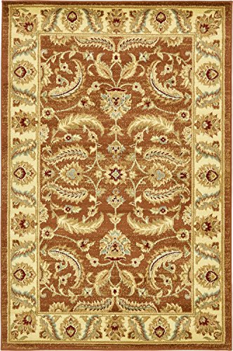 (Unique Loom Voyage Collection Traditional Oriental Classic Brick Red Area Rug (4' x 6'))