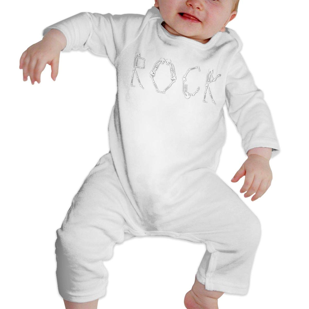 NFtrend Rock and Roll Unisex Baby Long Sleeved Rompers Soft Toddler Jumpsuit