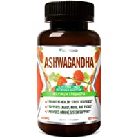 FarmHaven Ashwagandha Capsules with Ginger & Black Pepper Extract -1310mg -Organic Ashwagandha Root Powder -Anxiety Relief, Stress Relief, Mood, Thyroid Health -Adaptogen -Non-GMO -90 Veggie Capsules