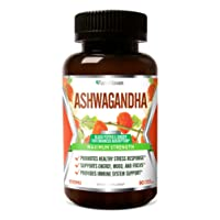FarmHaven Ashwagandha Capsules with Ginger & Black Pepper Extract -1310mg -Organic...
