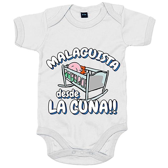 Body bebé Malaguista desde la cuna Málaga fútbol - Azul ...