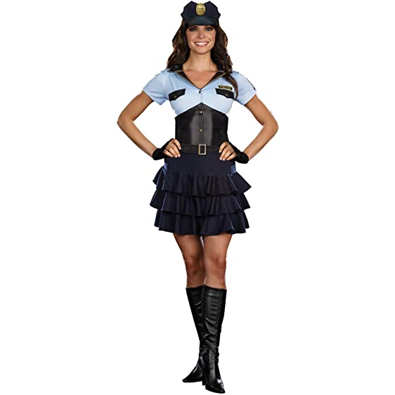 Policewoman Women Adult Halloween Costume Sexy Role Play Small 4-6  sc 1 st  Amazon.com & Amazon.com: Policewoman Women Adult Halloween Costume Sexy Role Play ...