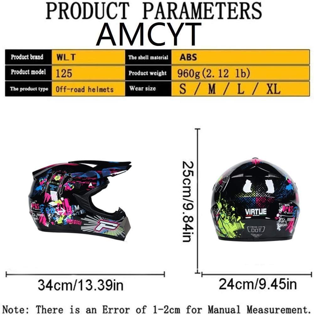 L AMCYT Motorrad Helme M/änner Motorradhelm Cross Helme Schutzhelm Motocross Helm ATV Offroad Bike Motocross Helm Kreative Pers/önlichkeit Full Face Helm