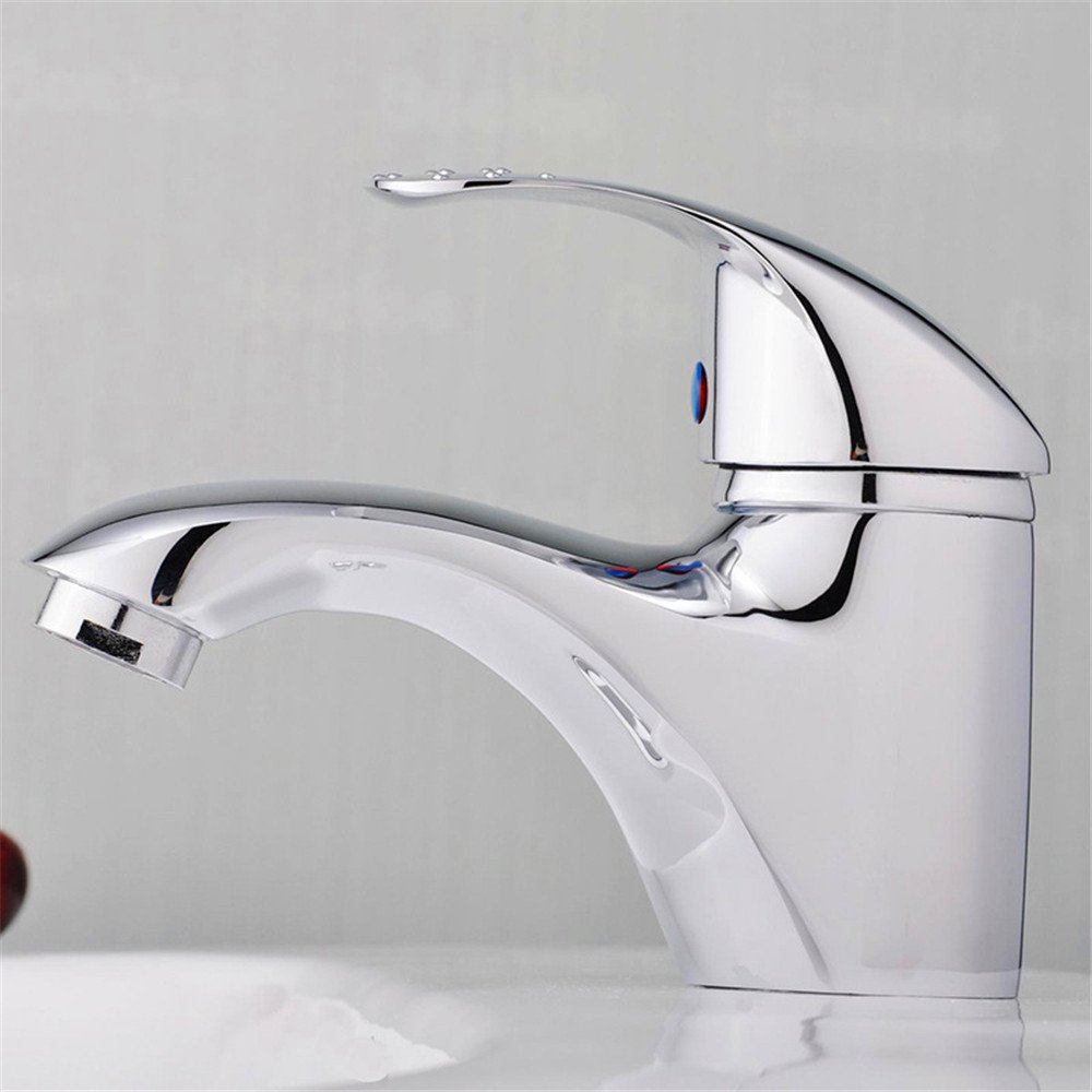 LHbox Tap Sprayer Spout Kitchen Faucet Stylish Aluminum Alloy Handle Washing Dishes in a Single-TAP-TAP Copper Off Kai-Mounted Kitchen Faucet (186C)