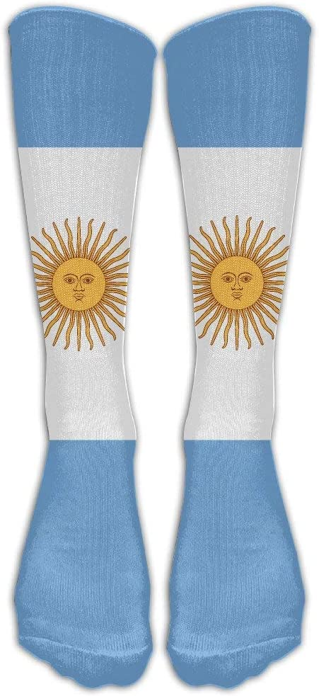 FUNINDIY Casual Argentina Flag High Socks Athletic Sports Tube for Men Women