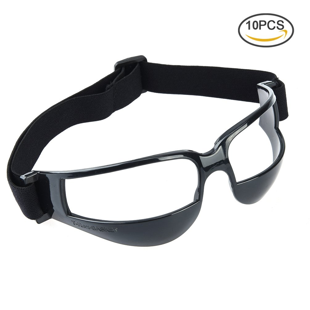 RUNACC Practical Basket Goggles Sports Dribble Specs Occhiali da vista Unique Basketball Training, Set di 5, Bianco