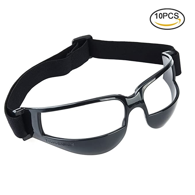 RUNACC Practical Basket Goggles Sports Dribble Specs Occhiali da vista Unique Basketball Training, Set di 5, Bianco