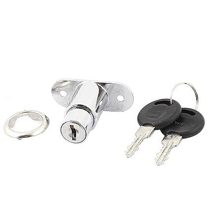 sourcingmap Armarios de cajones metálicas de seguridad cerradura de la leva taquillas w 2 Llaves