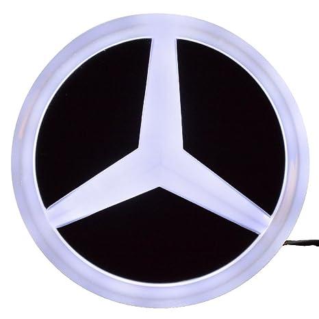 4D LED Car Tail Logo White Light Badge Emblem Light For Mercedes-Benz S350 S300L