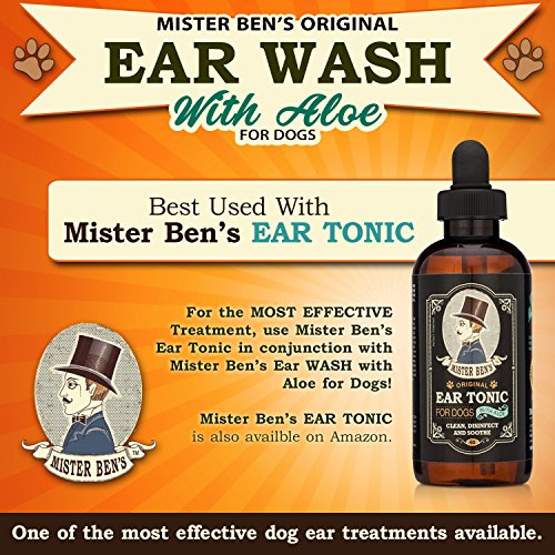 Mister Ben's MOST EFFECTIVE DOG EAR WASH Voted the Best Dog Ear Cleaner - Provides FAST RELIEF from Dog Ear Infections, Irritations, Itching, Odors, Bacteria, Mites, Fungus & Yeast by Mister Ben's (Image #3)