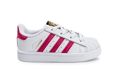 Conception innovante 50990 9a2e5 adidas Superstar Bébé Blanche Et Rose Blanc 26: Amazon.fr ...