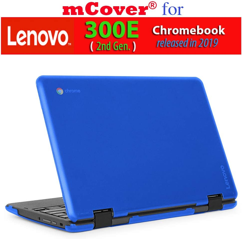 "mCover Hard Shell Case for 2019 11.6"" Lenovo 300E (2nd Gen.) 2-in-1 Chromebook Laptop (NOT Fitting Lenovo 300E Windows & N21 / N22 / N23 /100E / 500E Chromebook) (Blue)"