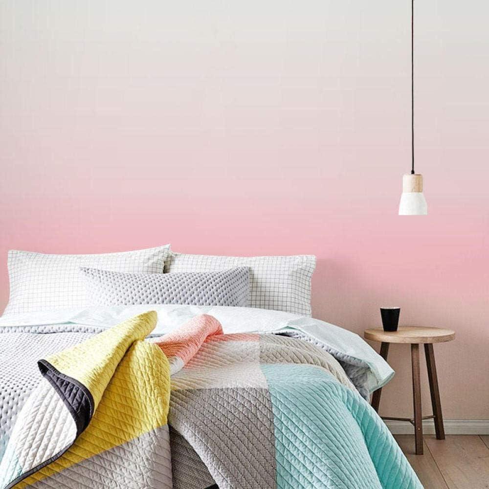 Papier peint 3D mural style nordique papier peint fille coeur princesse poudre chambre mur moderne d/égrad/é gradient papier peint rose ins150cm/×105cm