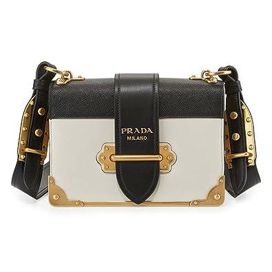 Shoulder Blackamp; Bag New White Prada Cahier stxhdBCQr