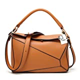 Yoome Women's Faux Leather Casual Tote Bag Boston